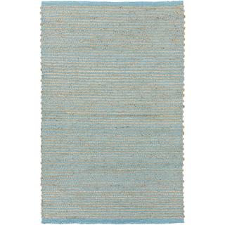 Hand-Woven Aisha Stripe Pattern Jute Area Rug