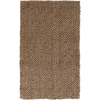 Hand-Woven Ahmad Geometric Pattern Jute Area Rug
