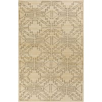 Hand-knotted Amani Geometric Pattern Wool Area Rug - 5'6 x 8'6