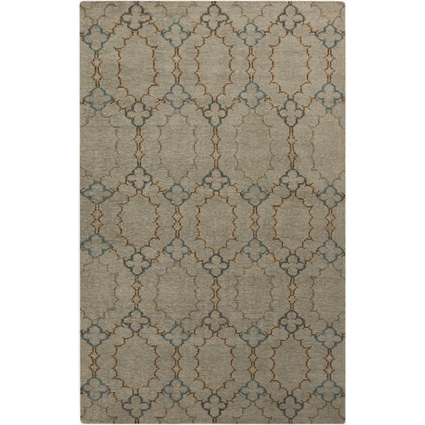 Hand-knotted Alvin Geometric Pattern Wool Area Rug (5'6 x 8'6)