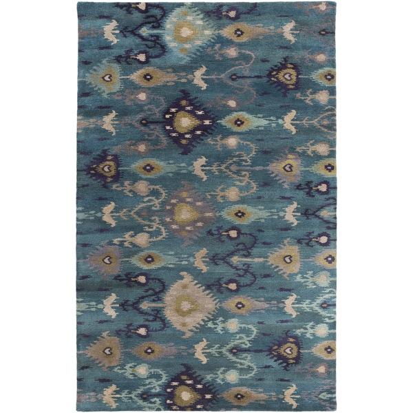 Hand-tufted Adalyn Ikat New Zealand Wool Area Rug