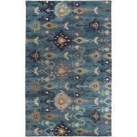 Hand-tufted Adalyn Ikat New Zealand Wool Area Rug - 2' x 3'