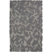 Hand-woven Albert Solid Wool Area Rug - 8' x 11'