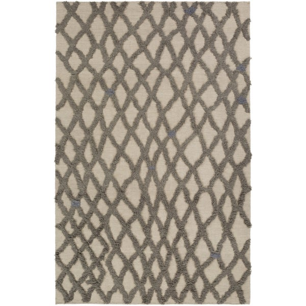 Hand-woven Addisyn Geometric Wool Area Rug - 2' x 3'