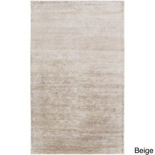 Hand-Knotted Juliette Solid Pattern Viscose Rug (2' x 3')