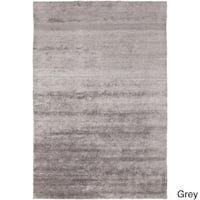 Hand-Knotted Juliette Solid Pattern Viscose Area Rug - 2' x 3'