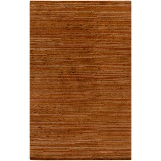 Hand-Knotted Simone Solid Pattern Wool Area Rug (2 x 3 - Rust)