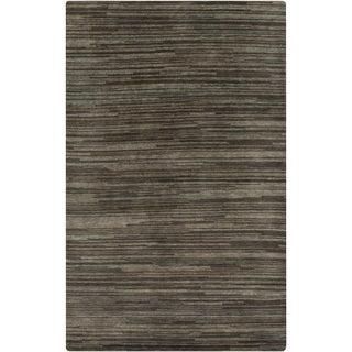 Hand-Knotted Simone Solid Pattern Wool Area Rug (2 x 3 - Grey)