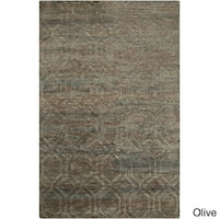 Hand-Knotted Sherri Abstract Pattern Jute Area Rug