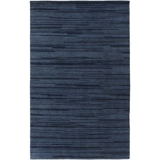 Hand-Knotted Simone Solid Pattern Wool Area Rug