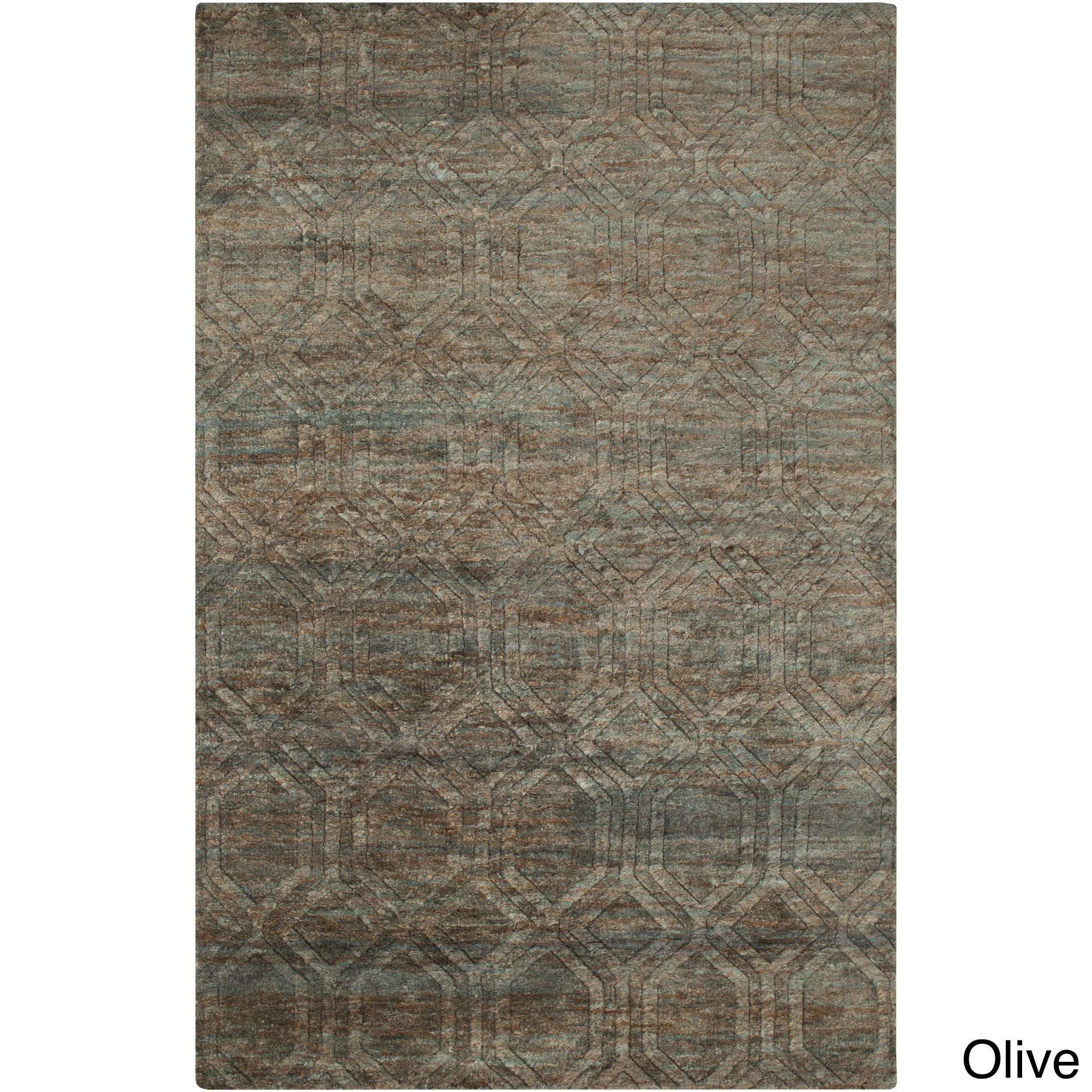 Hand Knotted Sherri Abstract Pattern Jute Area Rug