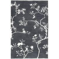 Hand-Tufted Glenda Floral Wool Area Rug - 2' x 3'