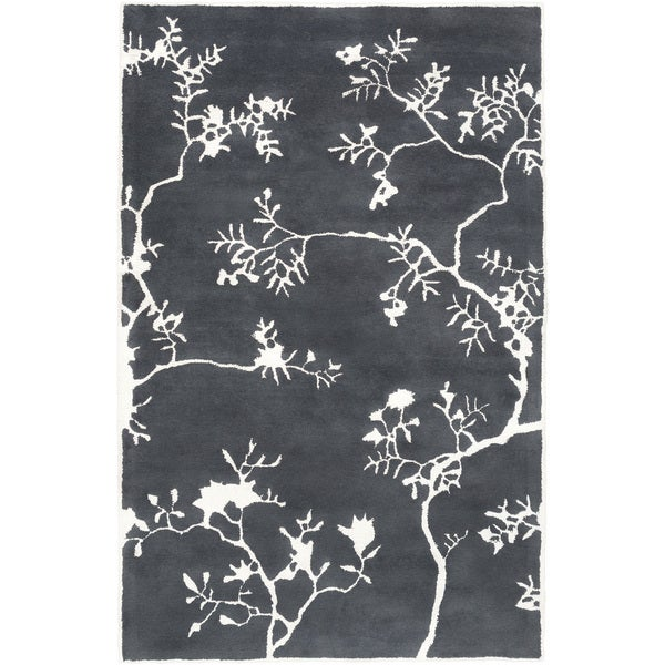 Hand-Tufted Glenda Floral Wool Rug (8' x 11')