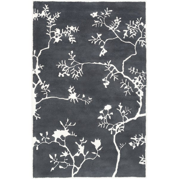 Hand-Tufted Glenda Floral Wool Area Rug - 8' x 11'