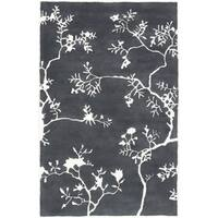 Hand-Tufted Glenda Floral Wool Area Rug - 8' x 11'
