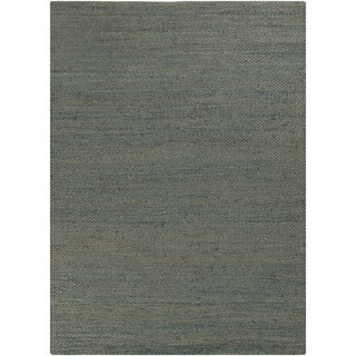 Hand-woven Aryan Solid Pattern Jute Rug (5' x 8')