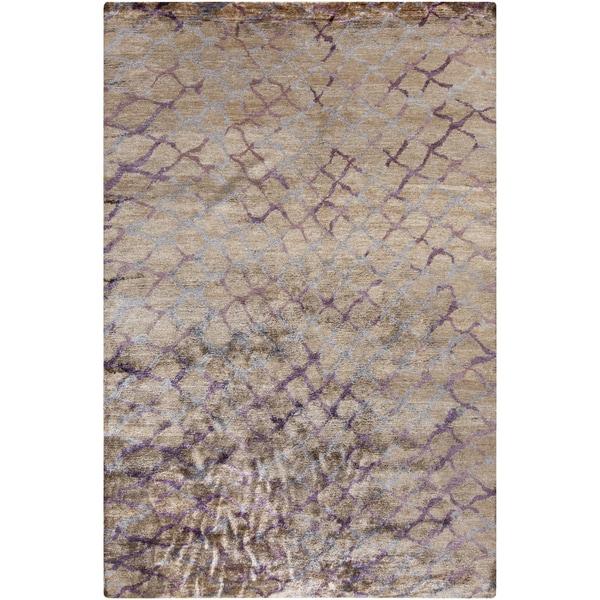 Hand-knotted Arnav Animal Pattern Viscose Area Rug (5' x 8') - 5' x 8'