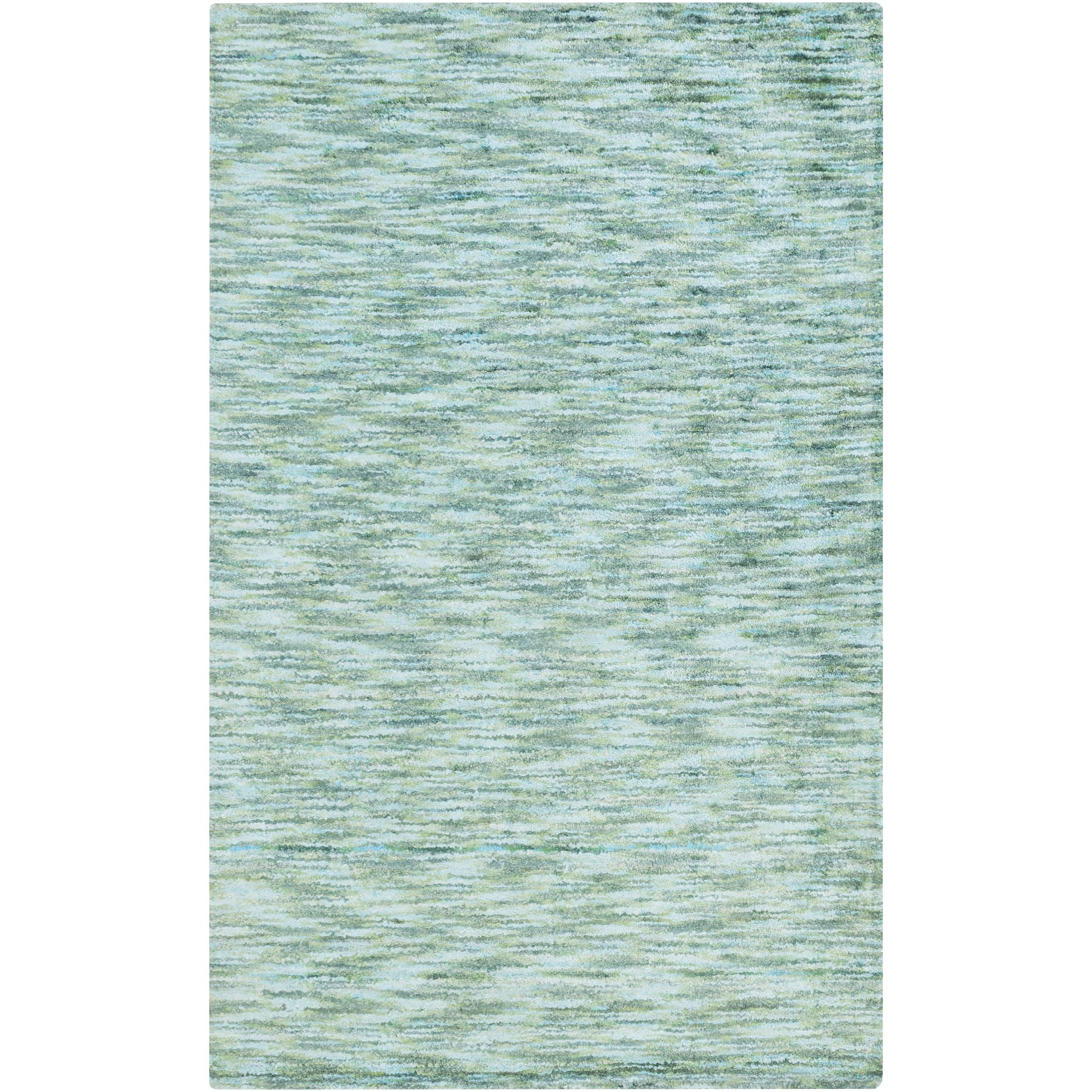 Handmade Aditya Solid Art Silk Rug (5' x 8') (Green-(5' x...