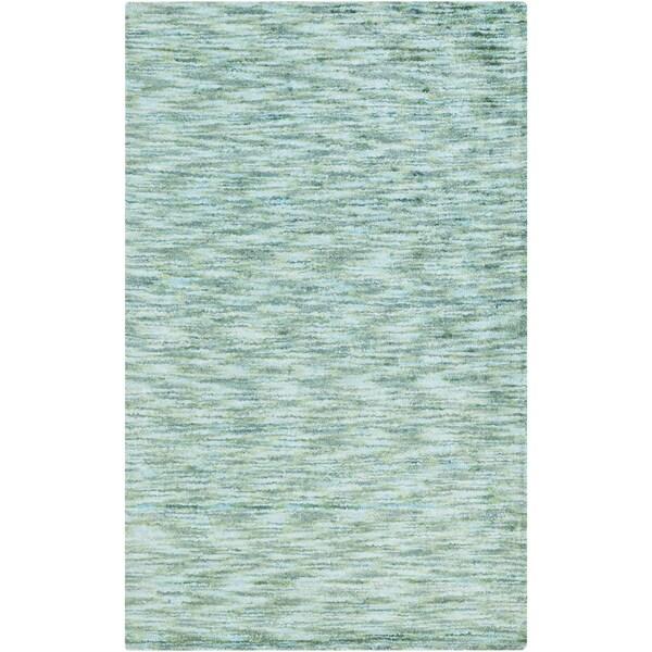 Handmade Aditya Solid Art Silk Rug (5' x 8')