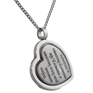 Stainless Steel Heart Spinner Bereavement Pendant