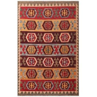 Herat Oriental Afghan Hand-woven Tribal Wool Kilim (3'11 x 6'1)