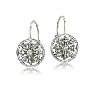 DB Designs Sterling Silver Diamond Accent Filigree Leverback Earrings https://ak1.ostkcdn.com/images/products/9833909/P16997581.jpg?impolicy=medium