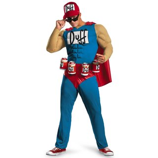 The Simpsons Duffman Deluxe Adult Muscle Costume