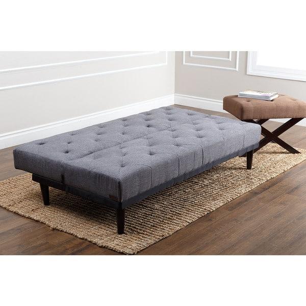 Abbyson Marlene Grey Fabric Futon Sofa Bed Free