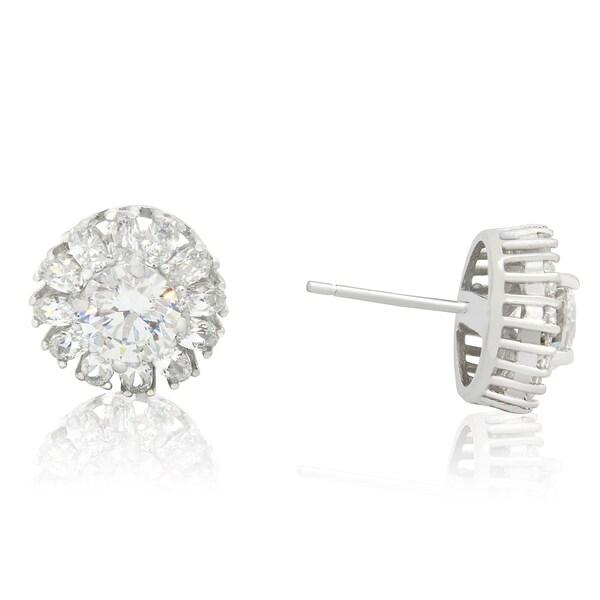 2ccbe5abd Gioelli Designs Sterling Silver 6mm Round-Cut Cubic Zirconia Designer Stud  Earring
