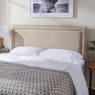 Link to Abbyson Tamey Nailhead Trim Beige Linen Headboard Similar Items in Bedroom Furniture