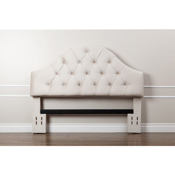 abbyson york tufted arch ivory velvet headboard  u2026 futon york   furniture shop  rh   ekonomikmobilyacarsisi
