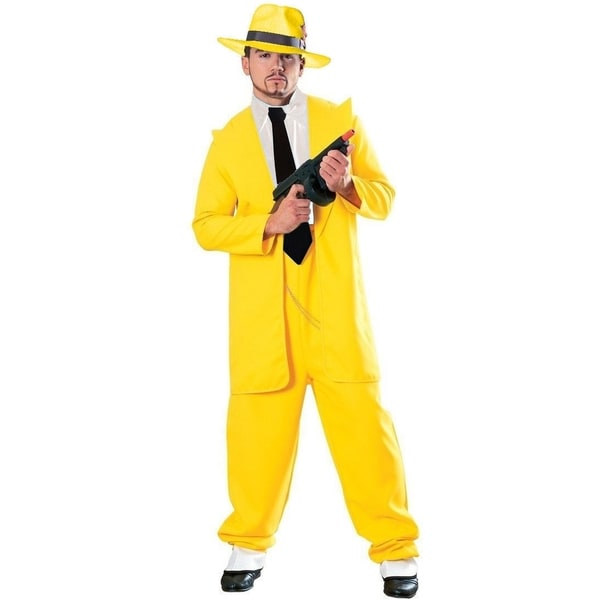 Mens Yellow Zoot Suit Adult Costume by  Best