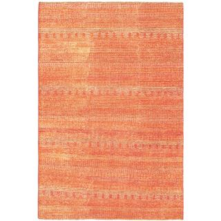 Ziegler Chobi Red Abstract Hand-woven Wool Rug (6'4 x 9'6)