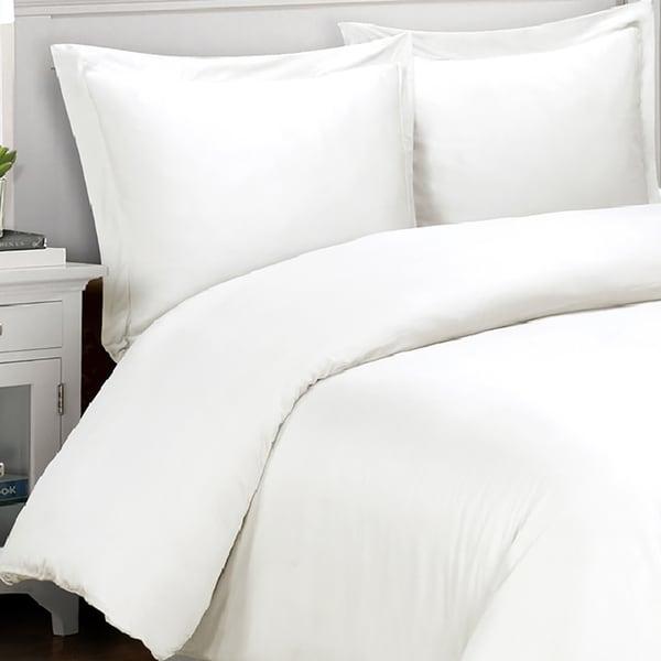 Cotton Percale 400 Thread Count 3-piece Duvet Cover Set