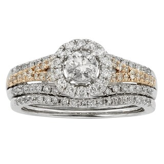 Sofia 14k Two-tone Gold 1ct TDW Diamond Wedding Band (H-I, I1-I2)