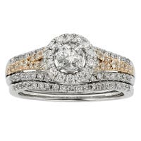 Sofia 14k Two-tone Gold 1ct TDW Diamond Wedding Band
