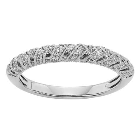 Sofia 14k Gold 1/4ct TDW Diamond Filigree Wedding Band