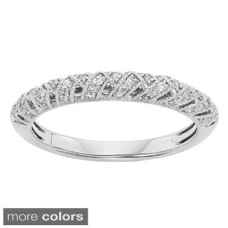 Sofia 14k Gold 1/4ct TDW Diamond Filigree Wedding Band