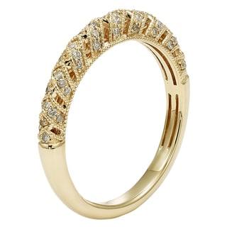 Sofia 14k Gold 1/4ct TDW Diamond Filigree Wedding Band (H-I, I1-I2)