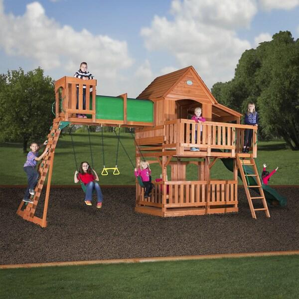 Backyard Discovery 6815 Woodridge II All Cedar Swing Set Play Set