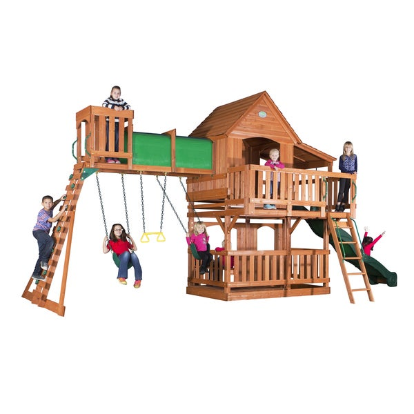 backyard discovery woodridge ii all cedar swing set