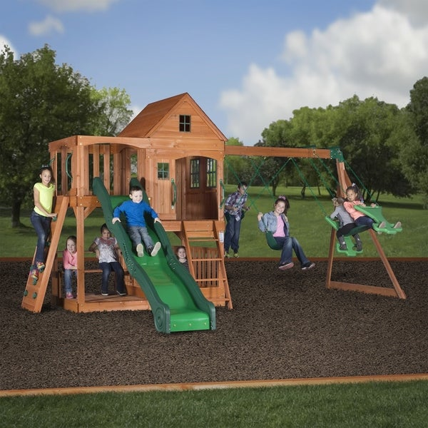Shop Backyard Discovery Pacific View All Cedar Swing Set Play Set