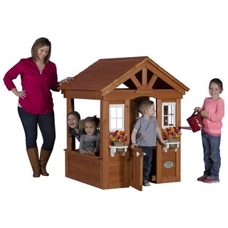 Link to Backyard Discovery Columbus All Cedar Play House - 56 inches high x 46 inches wide x 45 inches long Similar Items in Play Sets