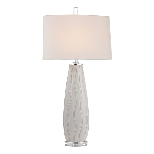 Dimond andover Washington 1-light White Wave Ceramic Table Lamp