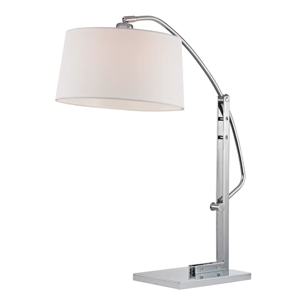 Dimond Assisi Functional 1-light Polished Nickel Arc Table Lamp