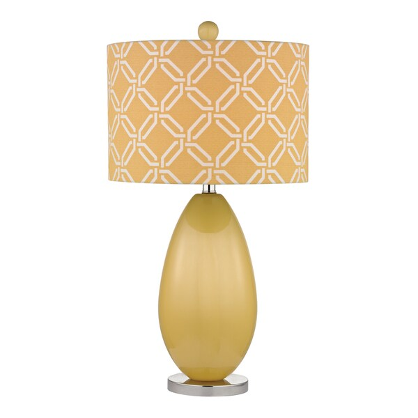 Dimond Sevenoakes 1-light Sunshine Yellow Glass Table Lamp