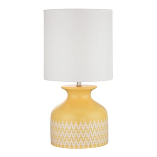 Dimond Carnforth Sunshine Yellow 1-light Ceramic Table Lamp