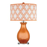 Dimond Thatcham Tangerine Orange 1-light Glass Table Lamp
