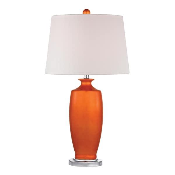 Dimond Halisham Tangerine Orange 1-light Ceramic Table Lamp