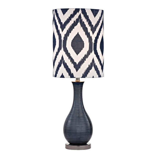 Dimond Hitchin Navy Blue 1-light Textured Ceramic Accent Lamp